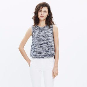 * Madewell Space-dyed Tank Top Grey Navy Blue